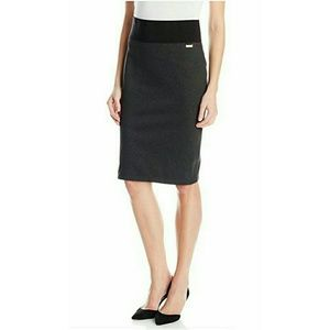 Calvin Klein Power Stretch Pencil Skirt Sz L